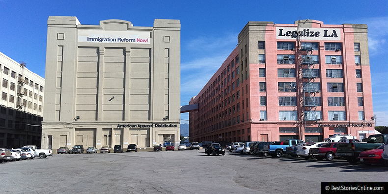 American Apparel Headquarters in Downtown Los Angeles.
