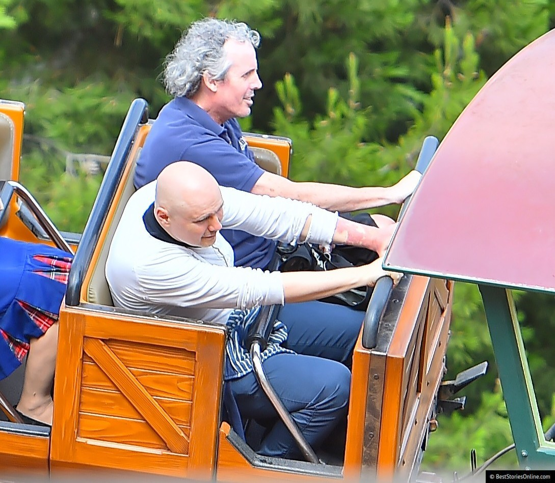 Billy Corgan not enjoying himself during his most recent visit to Disneyland.