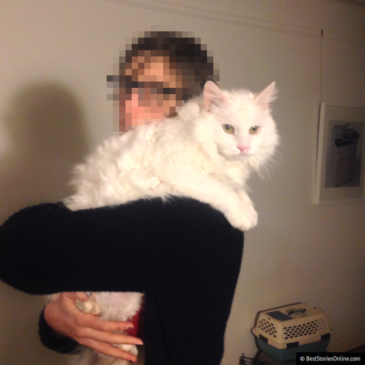 A 2012 photo of victim and cat provided by anonymous source.