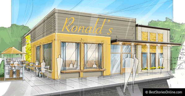 "Pictured: Architect's rendering of ""Ron's"" included in proposal to Boise Urban Revitalization Committee."