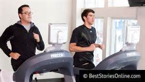 Fogle stays in shape during the peak of his success with Olympic champion Michael Phelps.