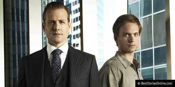 A still from the USA show 'Suits', which portrays the complex relationship between an ambitious Young Millennial and his mentor.