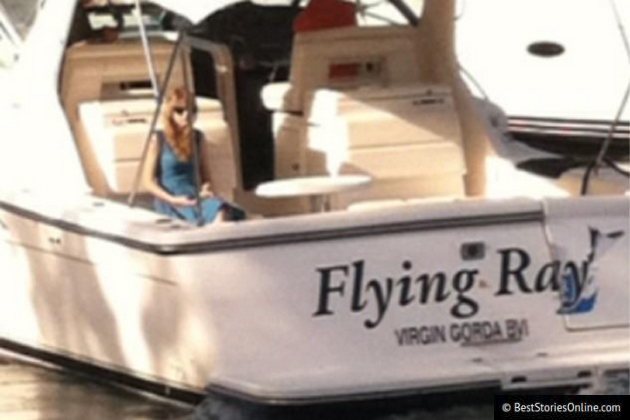 Taylor Swift, alone on her boat.